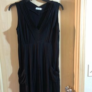 Calvin Klein midi length v-neck dress